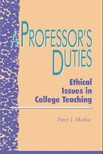 A Professor's Duties af Peter J. Markie