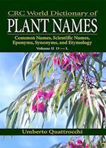 Crc World Dictionary of Plant Names af Umberto Quattrocchi