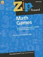 Zip Around Math Games, Middle Grades (Zip Around)