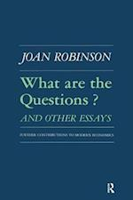 What are the Questions and Other Essays af Joan Robinson