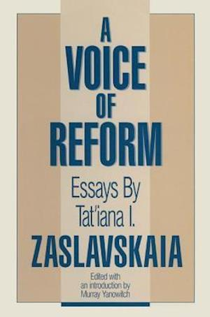A Voice of Reform: Essays : Essays