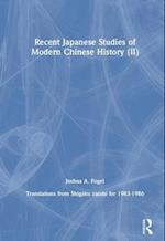 Recent Japanese Studies of Modern Chinese History af Joshua A. Fogel
