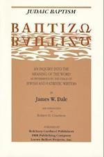 Judaic Baptism af James W. Dale, Dale