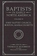 Baptists in Early North Americafirst Baptist Church, Boston, Massachusetts (Baptists in Early North America)
