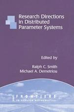 Research Directions in Distributed Parameter Systems (Frontiers in Applied Mathematics, nr. 27)