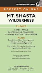 Map Mount Shasta Wilderness Recreation