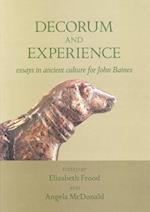 Decorum and Experience (Griffith Institute Publications)