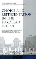 Choice and Representation in the European Union (European Parliamentary Democracy S, nr. 2)