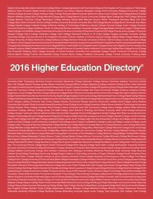 Bog, paperback Higher Education Directory