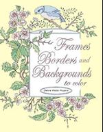 Frames, Borders and Backgrounds to Color