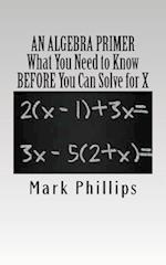An Algebra Primer