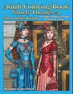 Adult Coloring Book Variety Themes #1