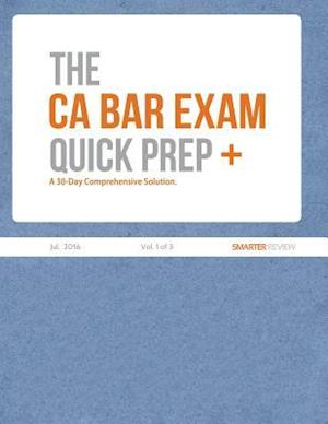 Bog, paperback The CA Bar Exam Quick Prep Plus (Vol. 1 of 3)