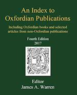 An Index to Oxfordian Publications