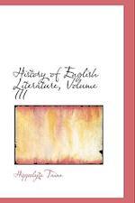 History of English Literature, Volume III