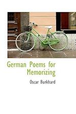 German Poems for Memorizing af Oscar Burkhard
