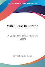 What I Saw in Europe af Ellwood Haines Stokes