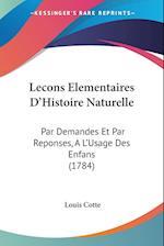 Lecons Elementaires D'Histoire Naturelle af Louis Cotte