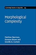 Morphological Complexity (Cambridge Studies in Linguistics, nr. 153)