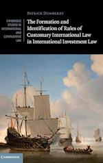The Formation and Identification of Rules of Customary International Law in International Investment Law af Patrick Dumberry