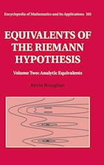 Equivalents of the Riemann Hypothesis: Volume 2, Analytic Equivalents af Kevin Broughan