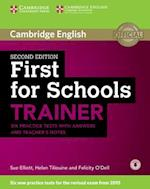 First for Schools Trainer Six Practice Tests with Answers and Teachers Notes with Audio af Sue Elliott