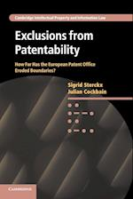 Exclusions from Patentability af Sigrid Sterckx