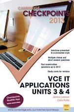 Cambridge Checkpoints Vce It Applications 2013