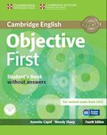 Objective First Student's Book without Answers with CD-ROM (Objective)