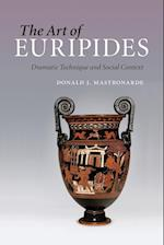 The Art of Euripides af Donald J. Mastronarde