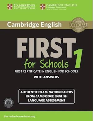 Cambridge English First 1 for Schools for Revised Exam from 2015 Student's Book Pack (Student's Book with Answers and Audio CDs (2))
