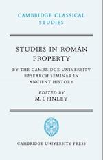 Studies in Roman Property