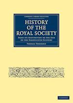 History of the Royal Society af Thomas Thomson