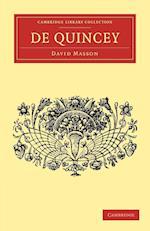 De Quincey af John Morley, David Masson