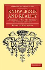 Knowledge and Reality af Bernard Bosanquet