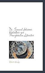 Dr. Samuel Johnsons Verhaltnis Zur Franzosischen Literatur af Robert Kleuker