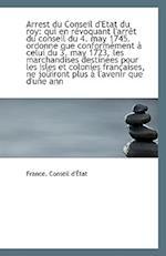 Arrest Du Conseil D'Etat Du Roy