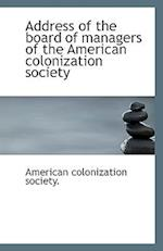 Address of the Board of Managers of the American Colonization Society