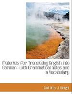 Materials for Translating English Into German