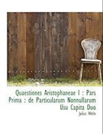 Quaestiones Aristophaneae I af Julius Wehr