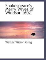Shakespeare's Merry Wives of Windsor 1602 af Walter Wilson Greg