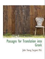 Passages for Translation Into Greek af John Young Sargent