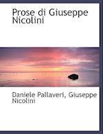 Prose Di Giuseppe Nicolini af Daniele Pallaveri, Giuseppe Nicolini