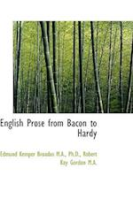 English Prose from Bacon to Hardy