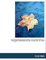 Vulgarlateinische Inschriften af Ernst Diehl