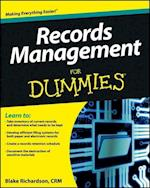 Records Management for Dummies (For dummies)