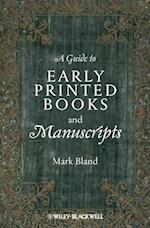Guide to Early Printed Books and Manuscripts