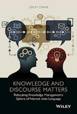 Knowledge and Discourse Matters