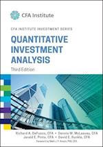 Quantitative Investment Analysis (Cfa Institute Investment)