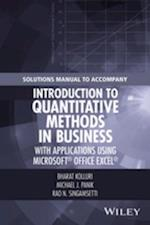 Solutions Manual to Accompany Introduction to Quantitative Methods in Business: with Applications Using Microsoft Office Excel af Michael J. Panik, Bharat Kolluri, Rao N. Singamsetti